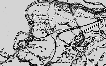 Old map of Lilliestead in 1897