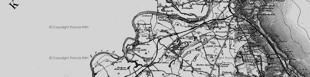Old map of West Ord in 1897