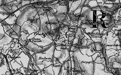 Old map of Lockengate in 1895