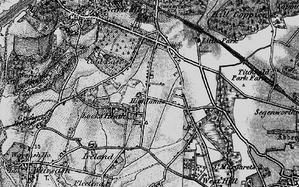Old map of Locks Heath in 1895