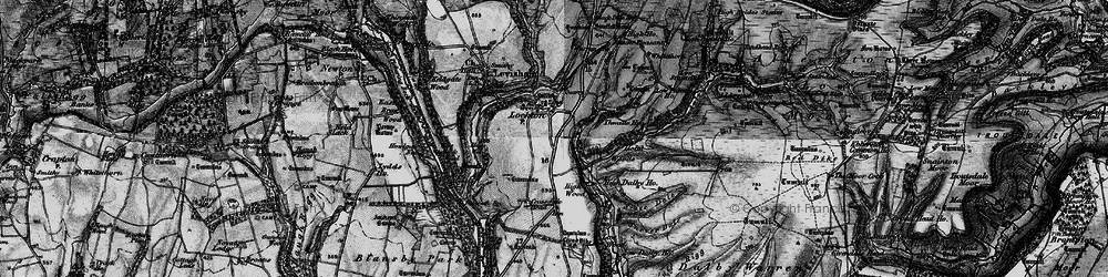 Old map of Adderstone Rigg in 1898
