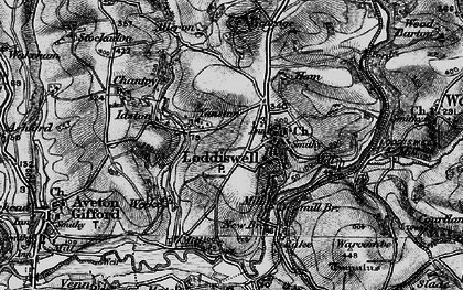 Old map of Alleron in 1897