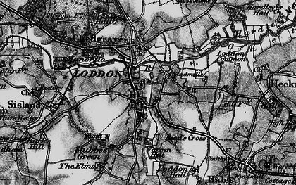 Old map of Loddon in 1898