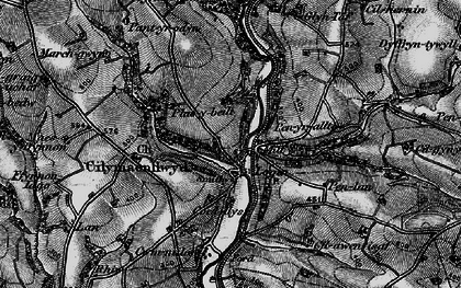 Old map of Bachsylw in 1898