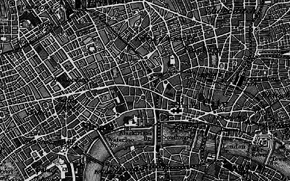 Old map of London in 1896