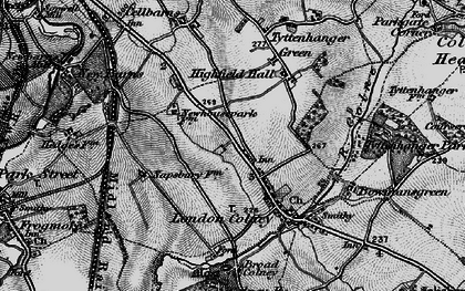 Old map of London Colney in 1896