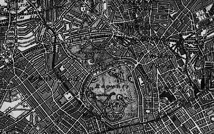 Old map of London Zoo in 1896