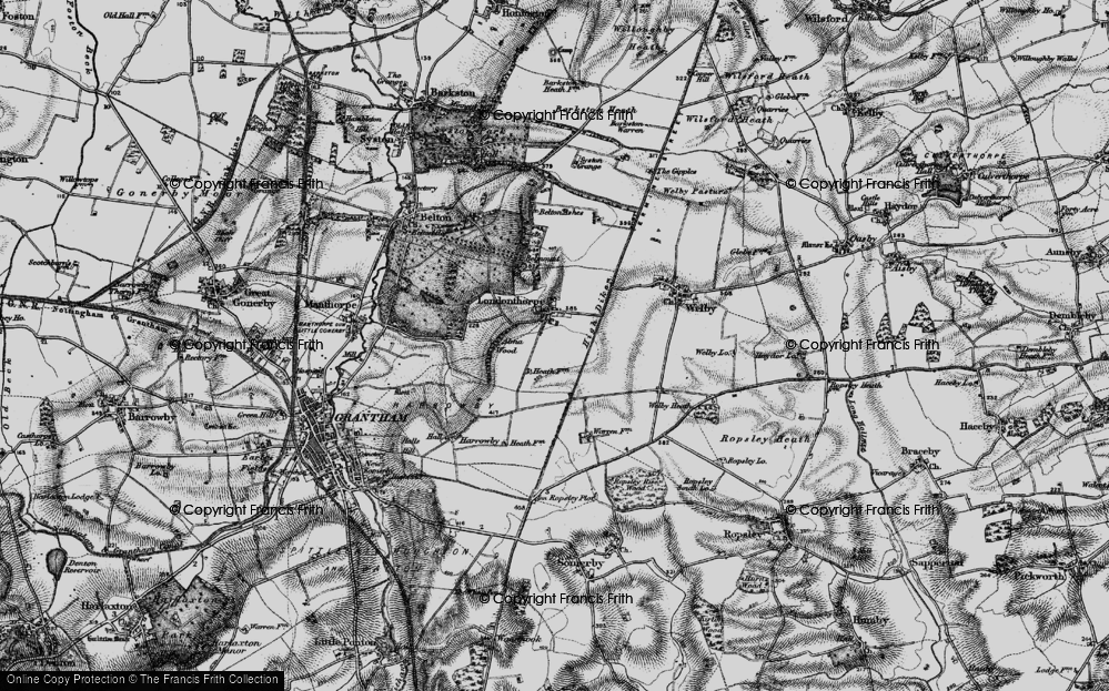 Old Map of Historic Map covering Alma Park Industrial Estate in 1895