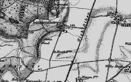Old map of Alma Wood in 1895