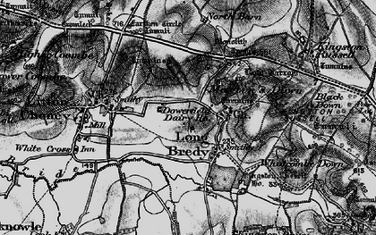 Old map of Ashley Chase Dairy in 1897