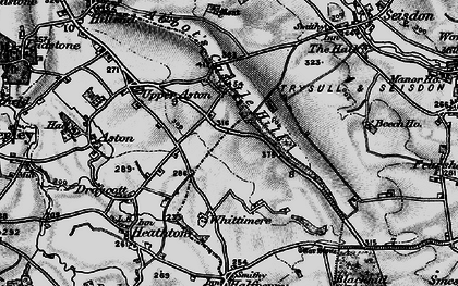 Old map of Abbot's Castle Hill in 1899