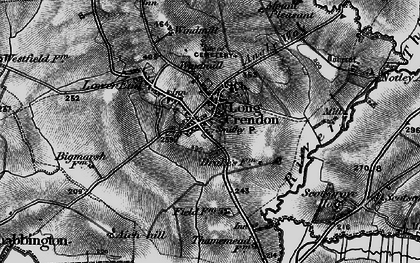 Old map of Long Crendon in 1895