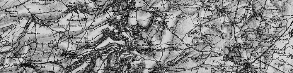Old map of West Yatton Down in 1898