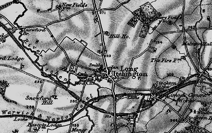 Old map of Long Itchington in 1898