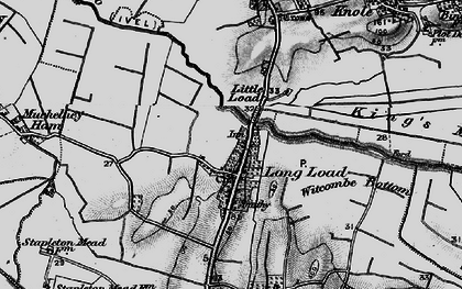 Old map of Witcombe Bottom in 1898