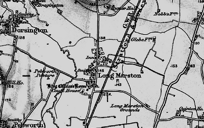 Old map of Willicote Pastures in 1898