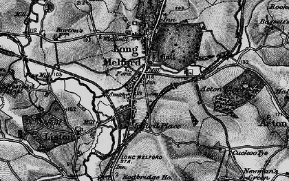 Old map of Long Melford in 1895