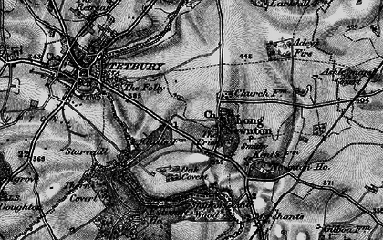 Old map of Addy's Firs in 1896