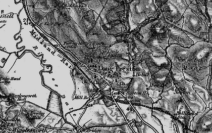 Old map of Long Preston in 1898