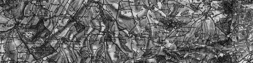 Old map of Long Sutton in 1895