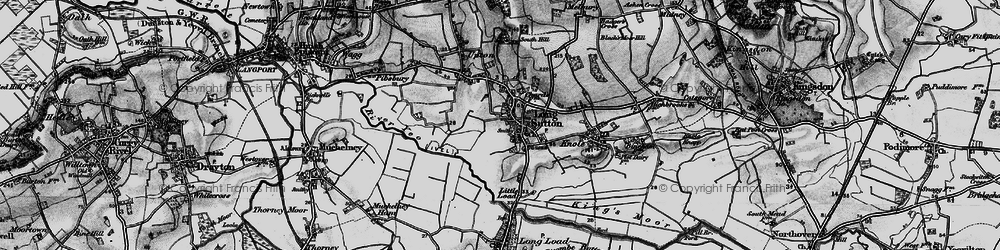 Old map of Long Sutton in 1898