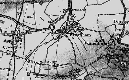 Old map of Long Wittenham in 1895