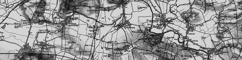 Old map of Long Wittenham in 1895