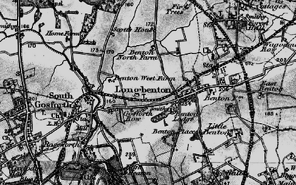Old map of Longbenton in 1897