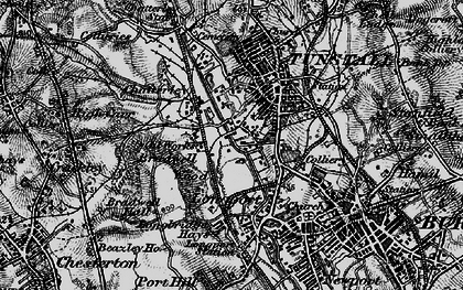 Old map of Westport Lake in 1897