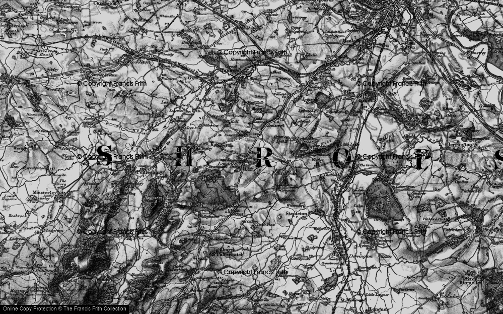 Old Map of Historic Map covering Arscott Villa in 1899