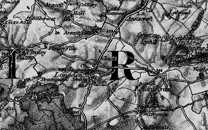 Old map of Arscott Villa in 1899
