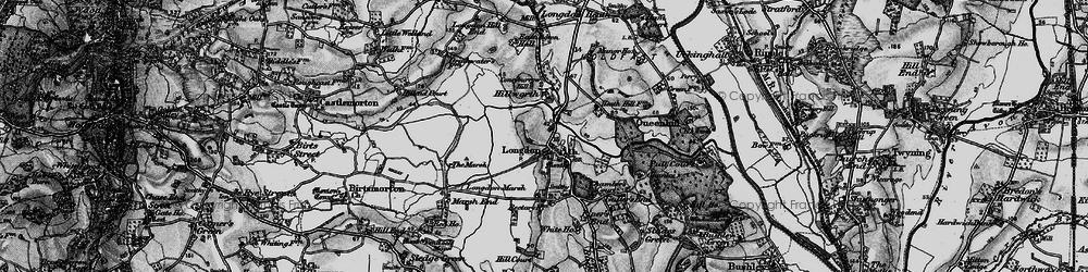 Old map of Longdon in 1898