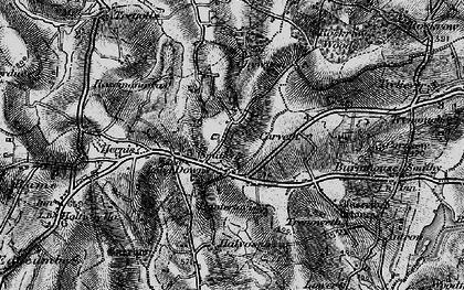 Old map of Longdowns in 1895