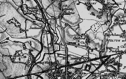 Old map of Longford in 1896