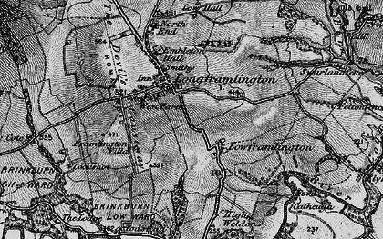Old map of Longframlington in 1897