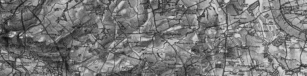 Old map of Todburn Moor in 1897