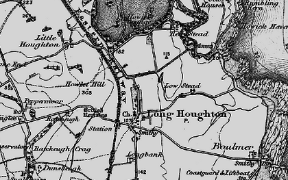 Old map of Longhoughton in 1897