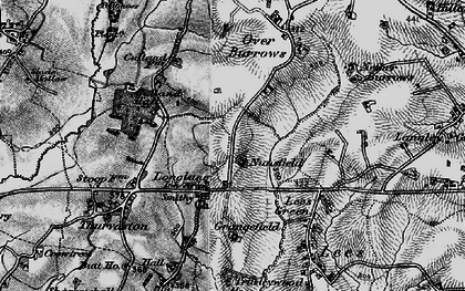 Old map of Longlane in 1897