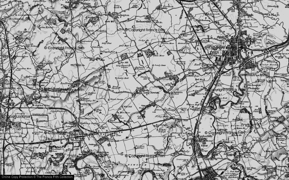 Old Map of Historic Map covering Larberry Pastures in 1898