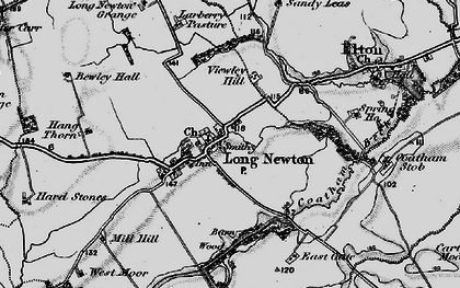 Old map of Larberry Pastures in 1898