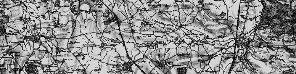 Old map of Whiston Brook in 1897
