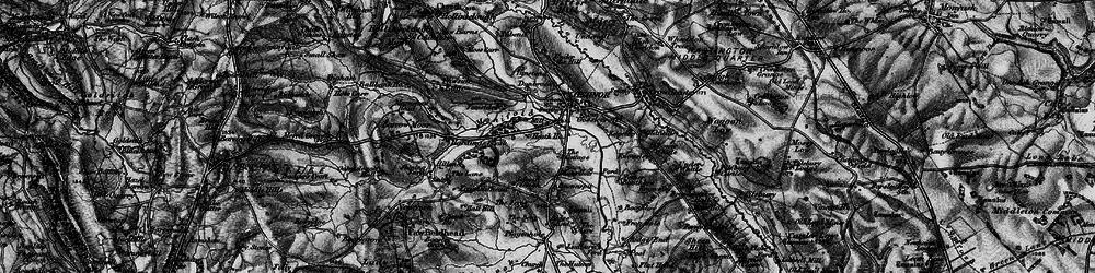 Old map of Longnor in 1897
