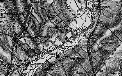 Old map of Longparish in 1895