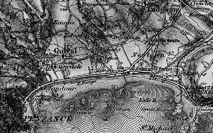 Old map of Longrock in 1895