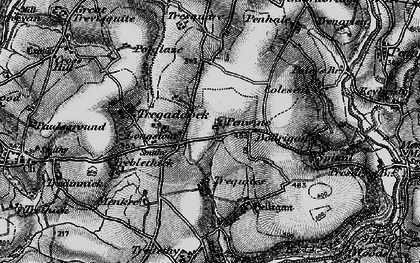 Old map of Longstone in 1895