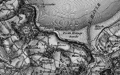 Old map of Longstone in 1896