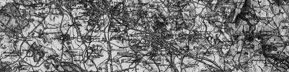 Old map of Longton in 1897