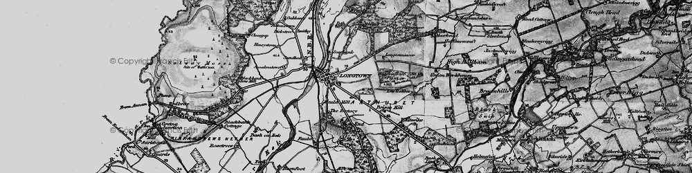 Old map of Longtown in 1897