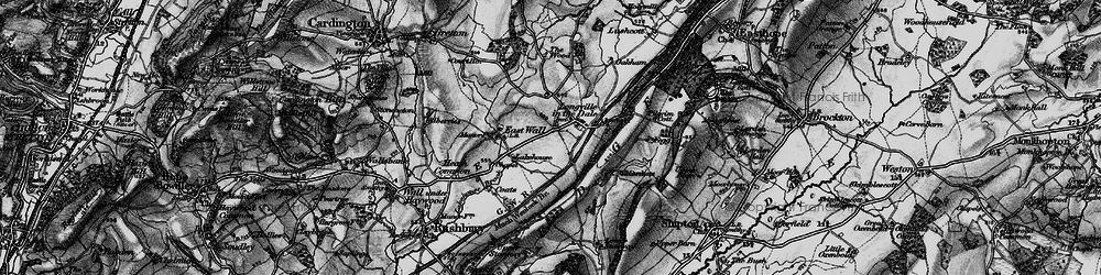 Old map of Wilderhope Manor in 1899