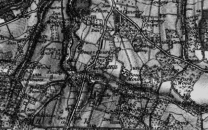 Old map of Loose in 1895
